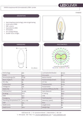 SYMSIS Graphene Candle B22 4W LED Bulb (Dimmable) 2700k Datasheet