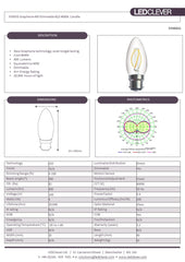 SYMSIS Graphene Candle B22 4W LED Bulb (Dimmable) 4000k Datasheet