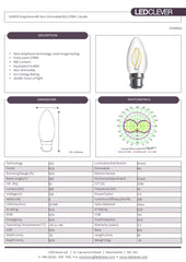 SYMSIS Graphene Candle B22 4W LED Bulb (Non-Dimmable) 2700k Datasheet