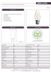 SYMSIS Graphene Candle B22 4W LED Bulb (Non-Dimmable) 4000k Datasheet