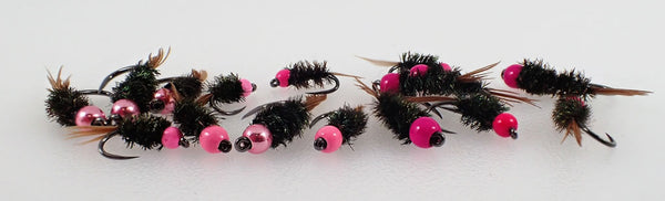Pink Tungsten Herl Selection