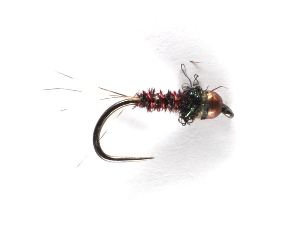Mankov's Black Pheasant Tail Old Copper Bead