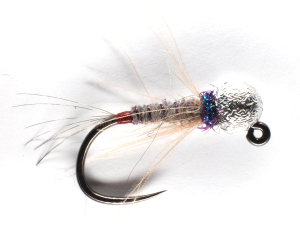 Mankov's Heron UV Red Butt Jig Nymph Silver Bead