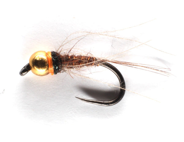 Mankov's Brown Hares Ear and CdC Nymph Gold Bead