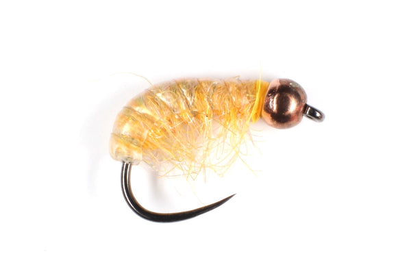 Mankov's Orange Gammarus with Lead Underbody Copper Bead