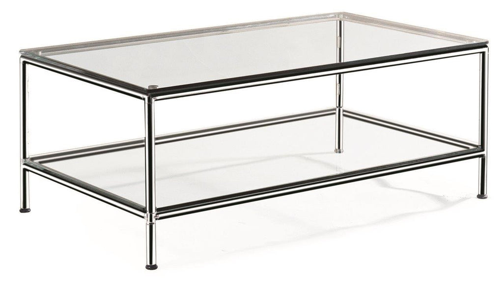 Superior Chrome Double Glass Coffee Table 1200x600
