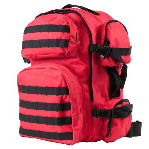 Tactical Backpack - Red w-Black Trim