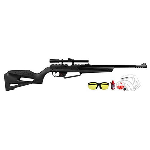 "NXG APX 490 Air Rifle Kit - .177 Caliber, 20"" Barrel, Black Stock-Blued"