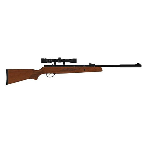 "Model 95 Vortex Quiet Energy Break Barrel Air Rifle - .25 Caliber, 17.70"" Barrel, Single Shot, Walnut Stock-Black with Scope 3-9x32mm"