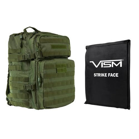 "Assault Backpac with 11"" z 14"" Square Panels - Green"