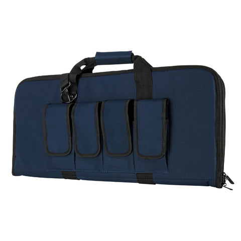 "Pistol Case - 28"", Blue W-Black Trim"