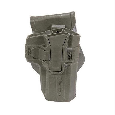 Smith & Wesson M&P Level 1 Holster - Paddle-Belt, Ambidextrous, Olive Drab Green