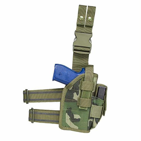 Drop Leg Universal Holster - Woodland Camouflage