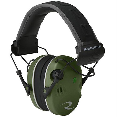 R-3400 Electronic Earmuff Quad Microphone (NRR 24 dB) Military Green-Black