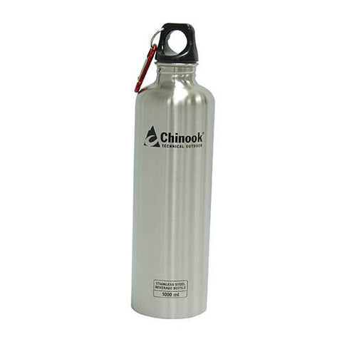 Cascade Wide Mouth Stainless Steel Bottle - 32 oz., Natural