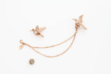 Humming Bird Clip - Pink gold