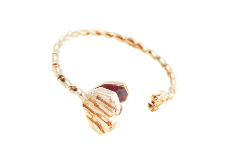 Mystery Love Bangle - Pink gold