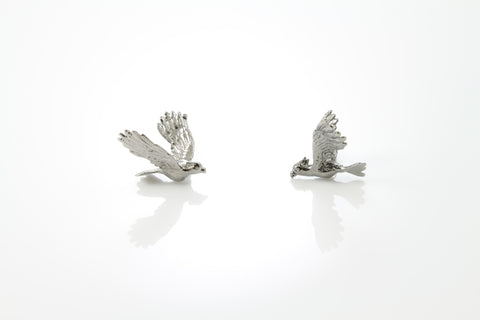 Cockatoo Earrings - Black ruthenium