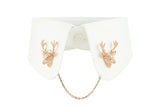 Deer Collar Clip - Pink gold