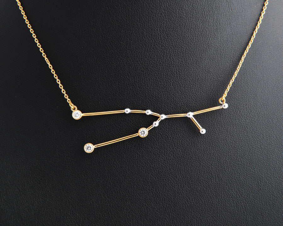 grande aries luna by necklace dainty taurus constellation products love from