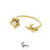 Humming Bird Bangle - Gold