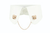 Owl Collar Clip - Pink gold