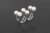 Sixtet Pearl Ring - White gold