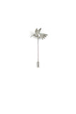 Humming Bird Lapel Pin - Black ruthenium