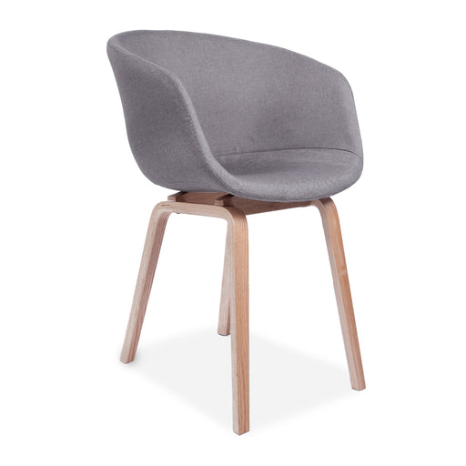 About A Upholstered Dining Chair, Light Grey
