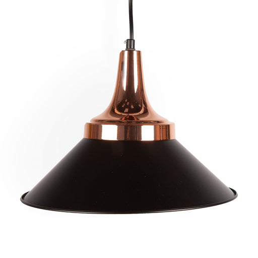 Matt Black & Copper Pendant Lights, Type A