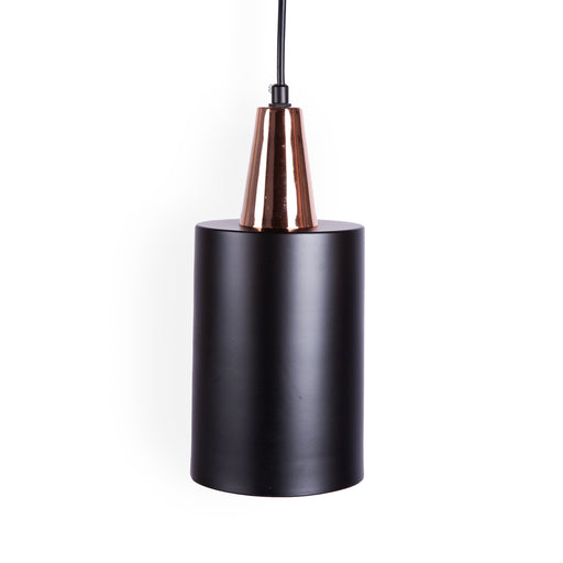 Designer Inspired Matt Black & Copper Pendant Lights, Type C