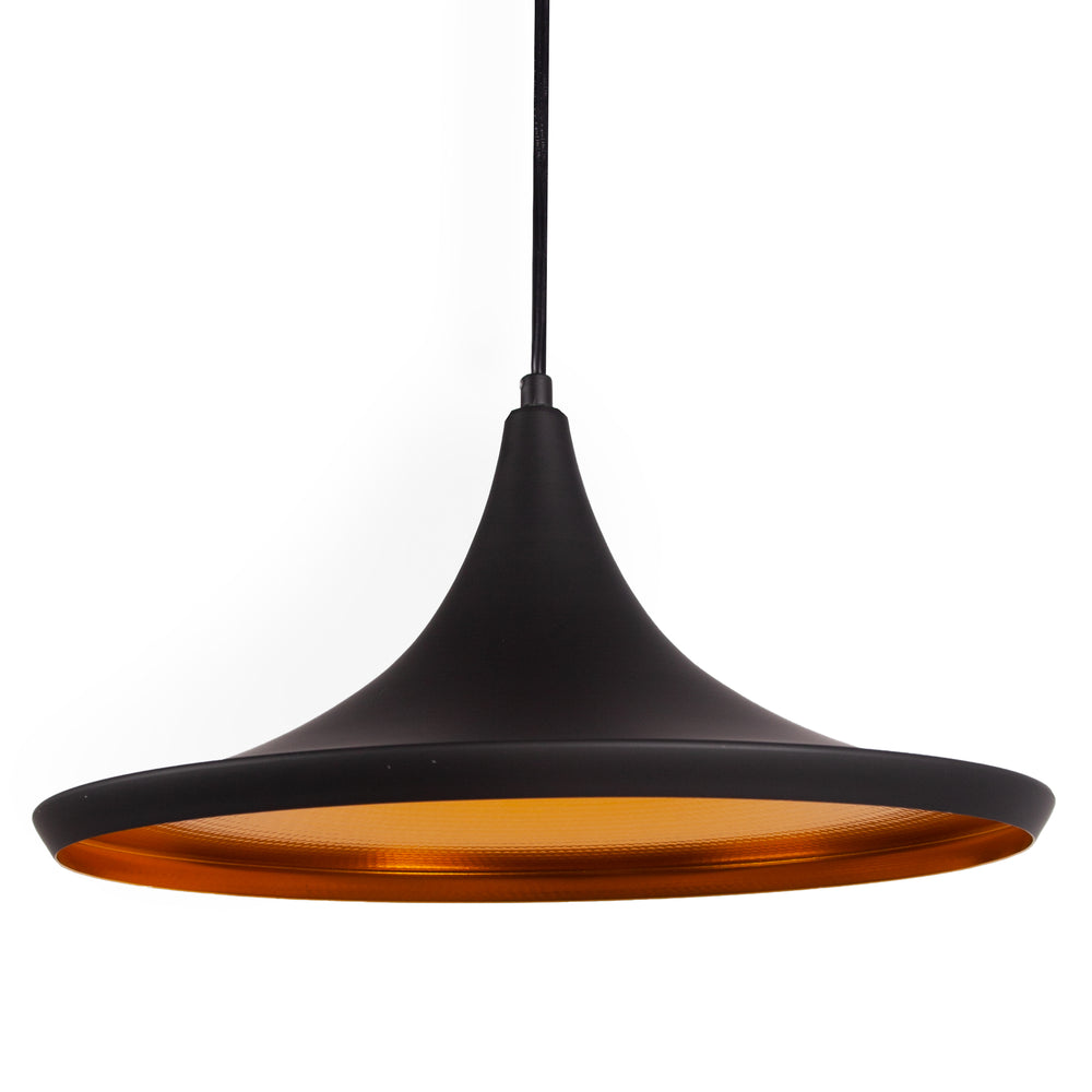 Designer Inspired  Matt Black & Copper Retro Pendant Ceiling Lights, Type A