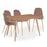 Mmilo Bergen Rectangular Oak Veneer Dining Table With Upholstered dining chair