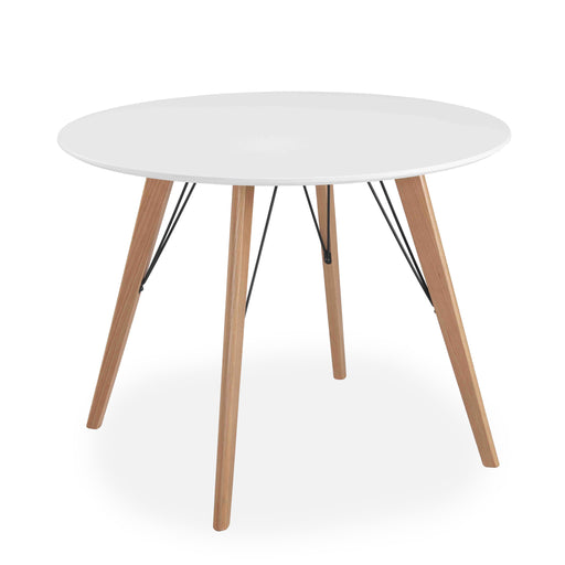 Mmilo Oslo Round Dining Table, Matte White