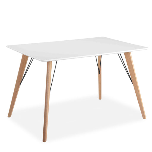 Mmilo Oslo Rectangular Dining Table, Matte White