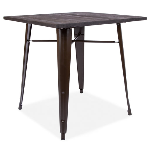 Retro Tolix Style Metal table With Wooden top