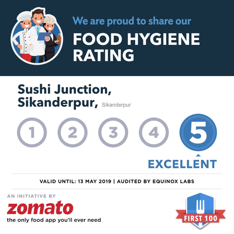 Sushi junction brand image Delhi and Gurgaon