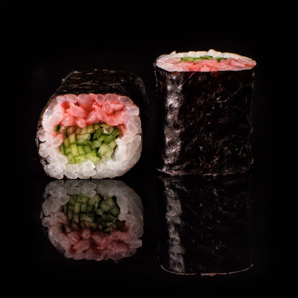 Small Plum Cucumber Sushi Roll