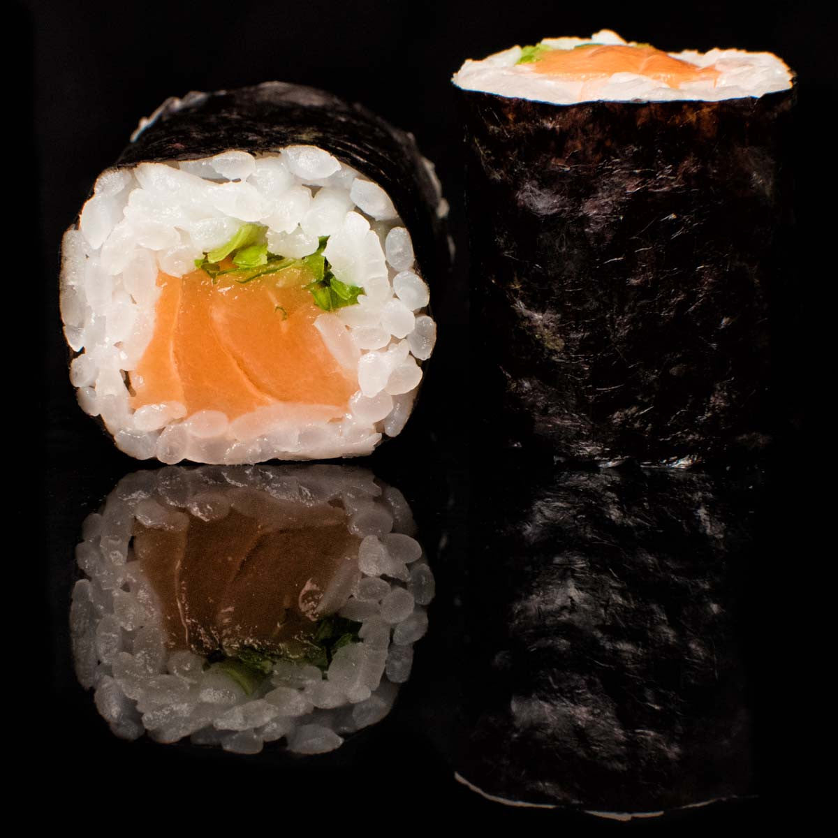 Small Salmon Sushi Roll
