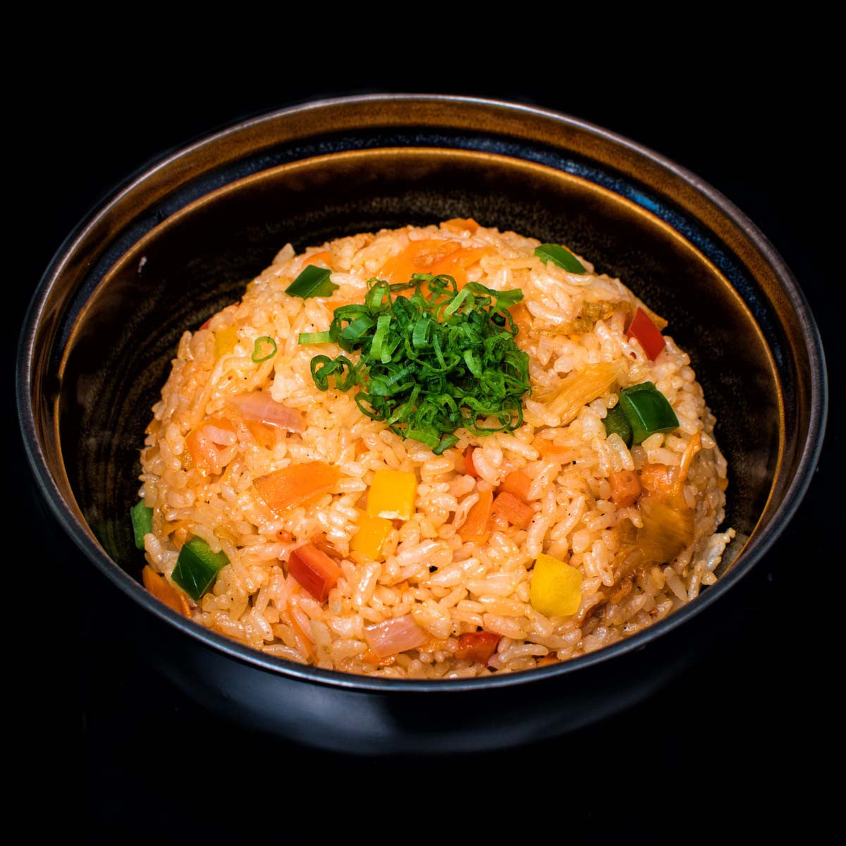 Kimchi Fried Rice with Vegetables