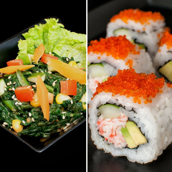 Mini Sushi with Salad Combo