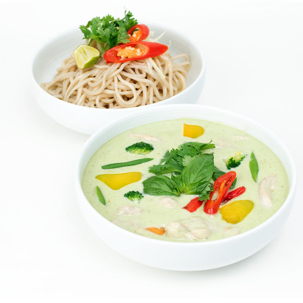 Green Thai Curry Chicken & Noodle Bowl