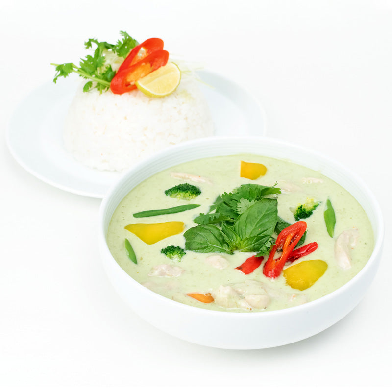 Green Thai Curry Chicken & Rice Bow