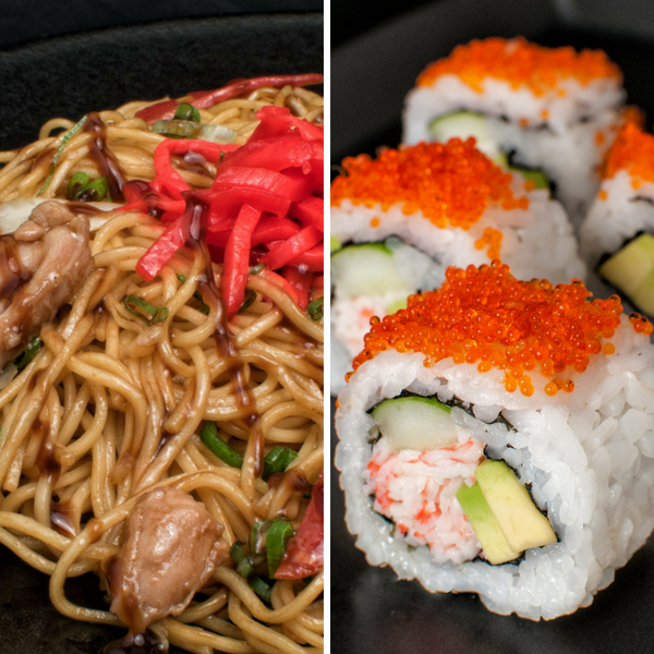 Noodle & Sushi Meal