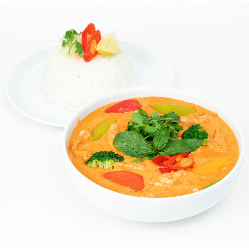 Red Thai Curry Chicken & Rice Bowl