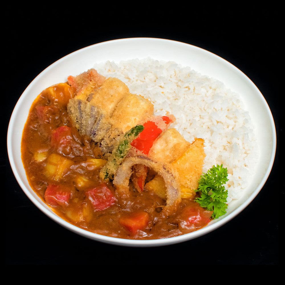 Tofu & Vegetable Katsu Curry Rice