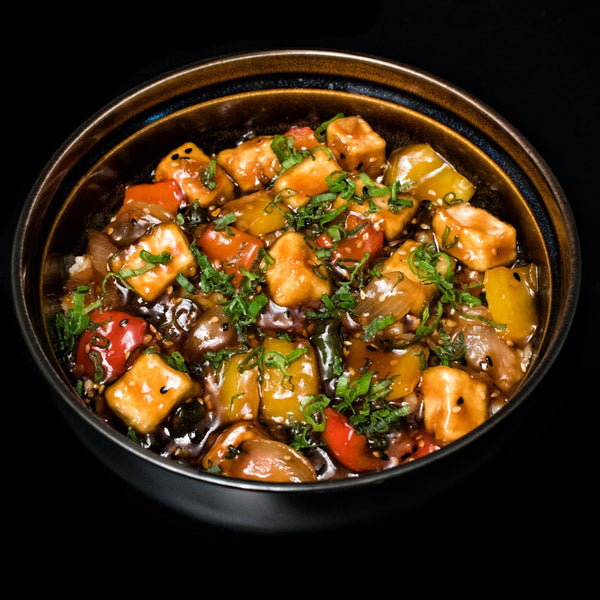 Spicy Tofu Teriyaki Rice Bowl