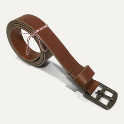 Made to measure belt HARNACHEUR maasai / taupe - Grand Rue - Made in France