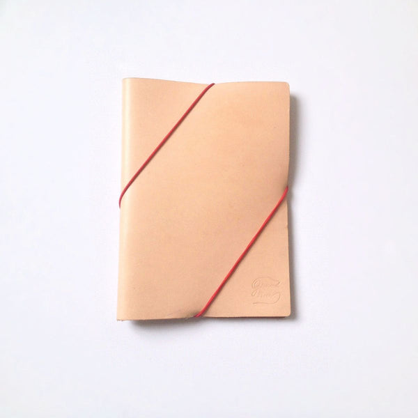 Diagonal leather notebook - Grand Rue - Made in France