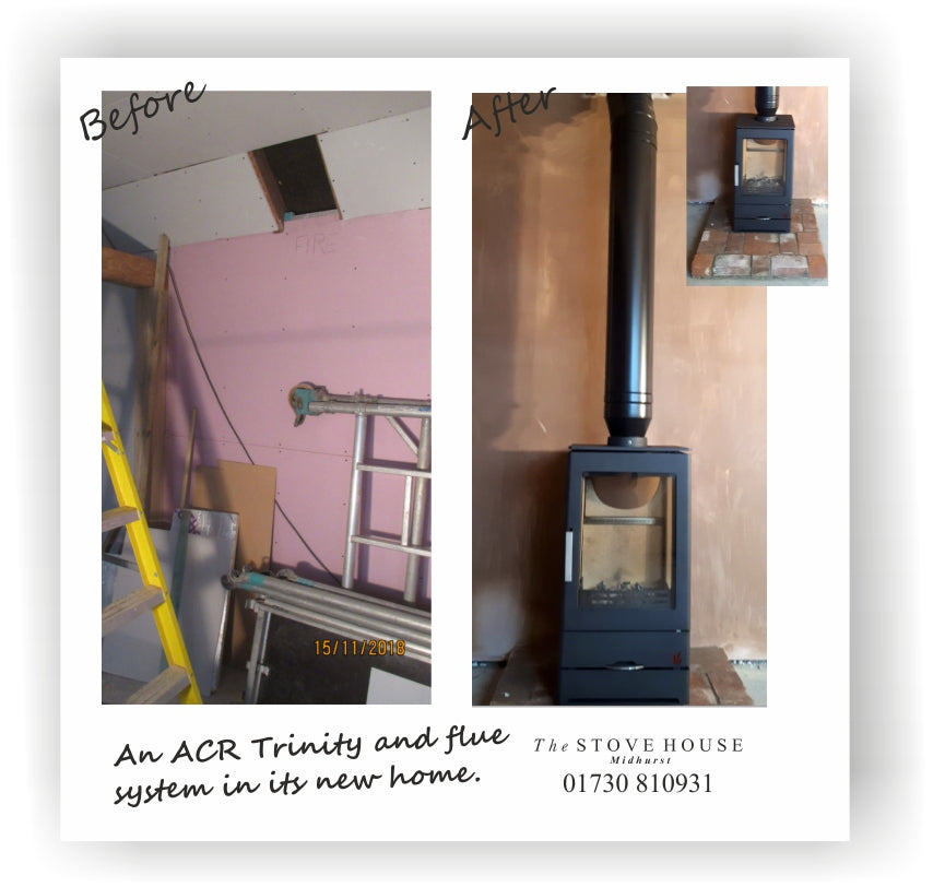 ACR Trinity Multifuel Stove Supplied and installed with Flue System